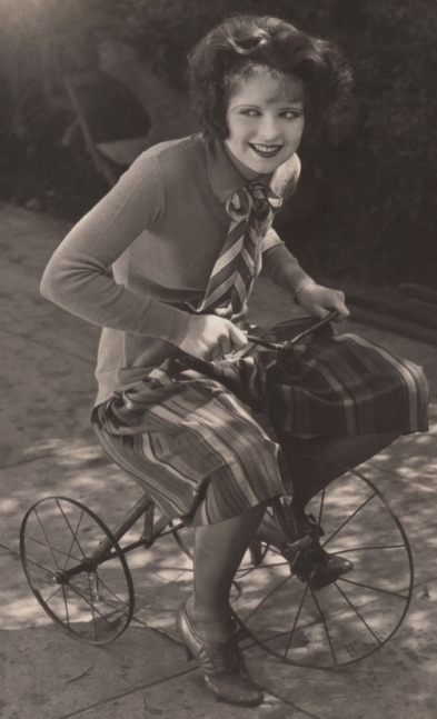 Riding a tricycle, 1927. As Mary Preston in Wings.
