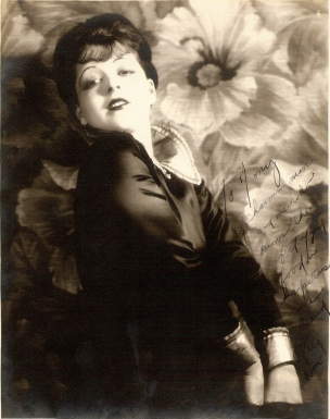 """""""To Tony A charming man and one who knows the effect of good food on his patrons Your friend Clara Bow"""" Courtesy of the Clara Bow Archive"""